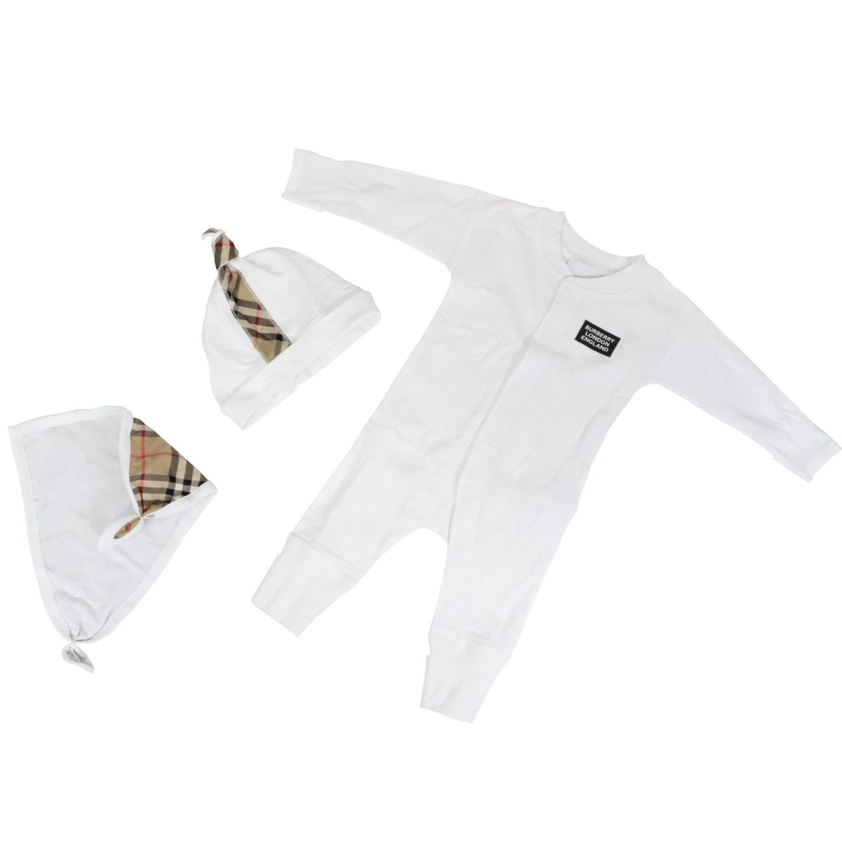 3-piece set in organic cotton White Burberry
