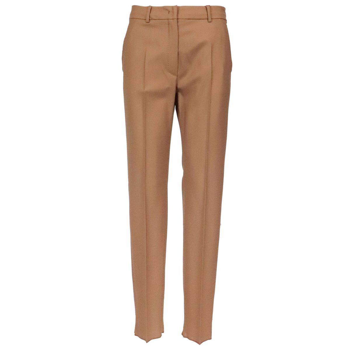 Belford trousers in wool with ironed crease Camel MAX MARA STUDIO