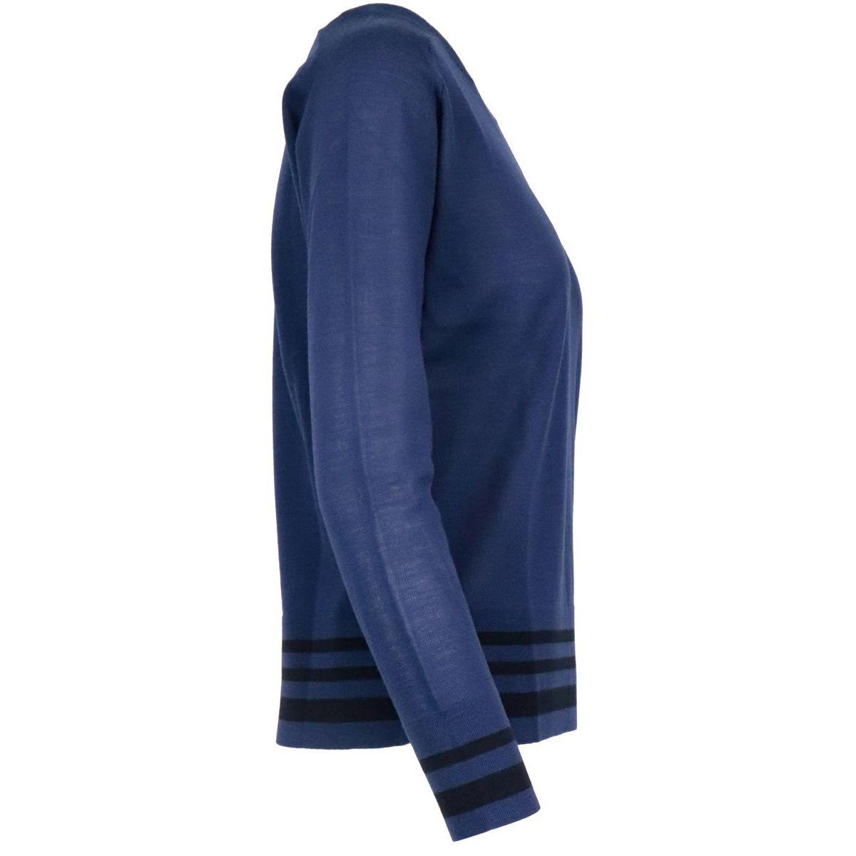 Dolly crewneck sweater in pure wool Ink MAX MARA STUDIO