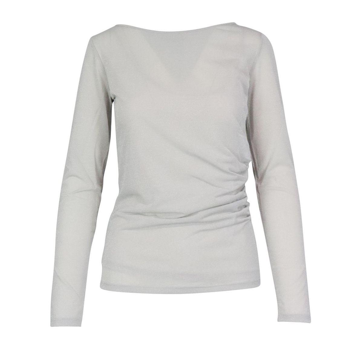 Cirino sweater in lurex acetate blend Silver MAX MARA STUDIO