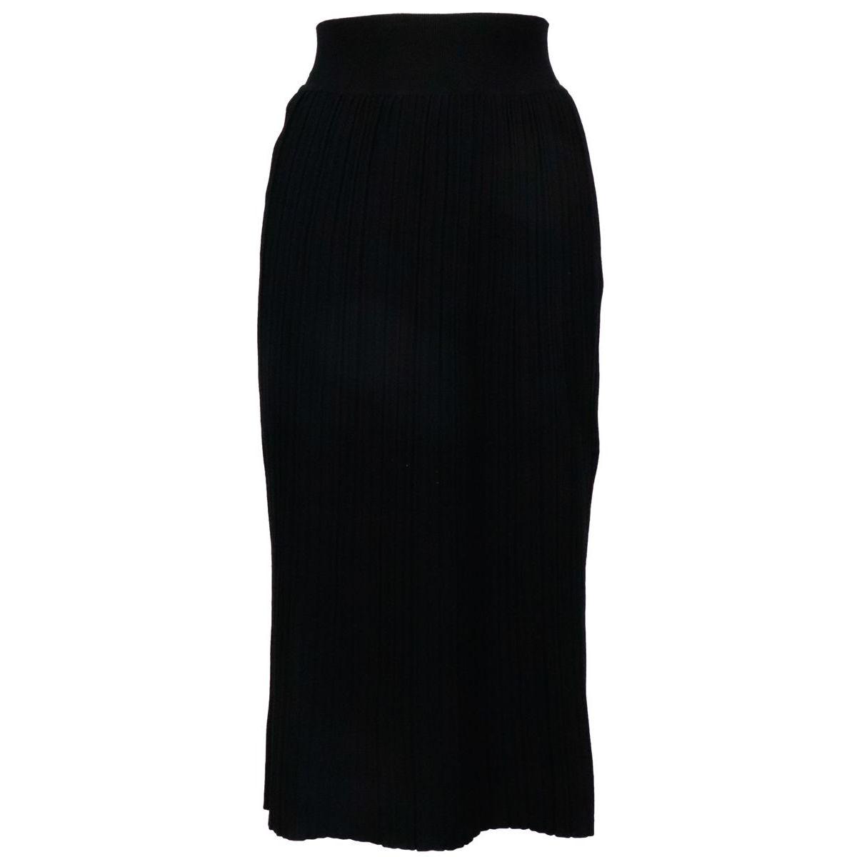 Urban skirt in pleated viscose knit Black MAX MARA STUDIO