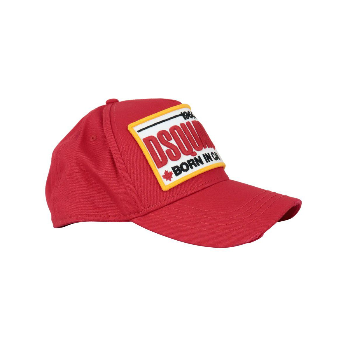 Hat with visor with embroidered patch Red Dsquared2