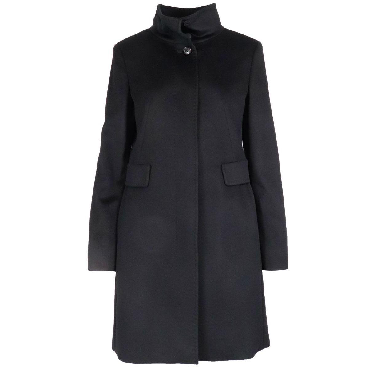 3 Agnese virgin wool coat Black MAX MARA STUDIO