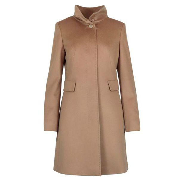 3 Agnese virgin wool coat Camel MAX MARA STUDIO