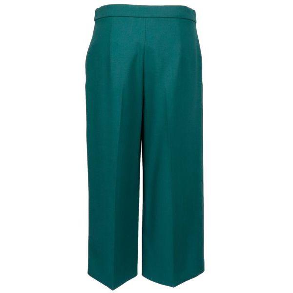 Orfeo stretch virgin wool cropped trousers Pine green MAX MARA STUDIO