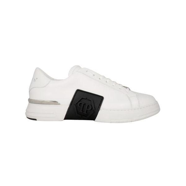 1. Sneaker in pelle Phantom low-top Bianco Philipp Plein