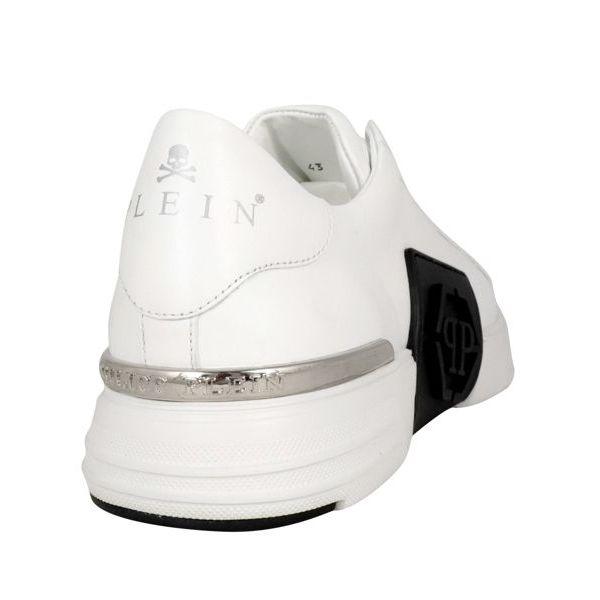 2. Sneaker in pelle Phantom low-top Bianco Philipp Plein