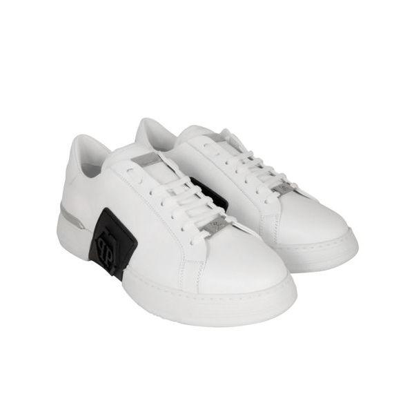 4. Sneaker in pelle Phantom low-top Bianco Philipp Plein