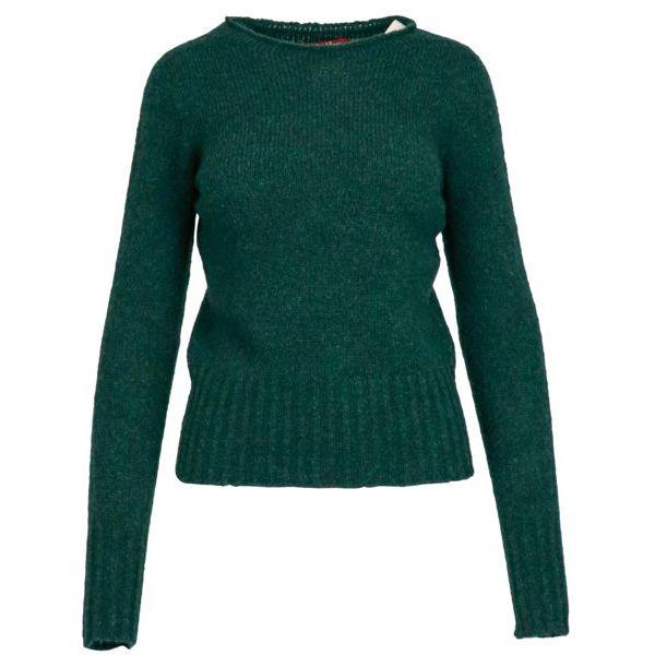 Maratea sweater in wool and alpaca blend Pine green MAX MARA STUDIO