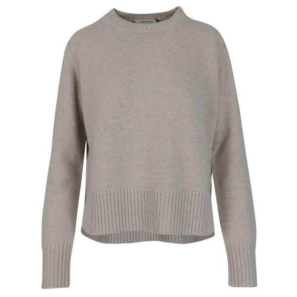 Getti crewneck sweater in cashmere blend Putty S MAX MARA