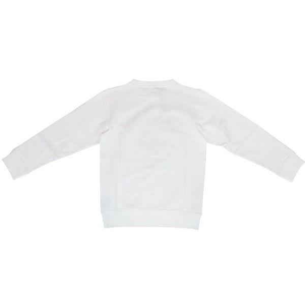 Cotton crewneck sweatshirt with logo print White BALMAIN