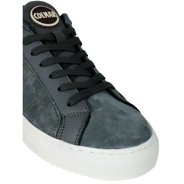 3. Colmar Bradbury Suede sneakers with hammered leather inserts Grey Colmar Shoes