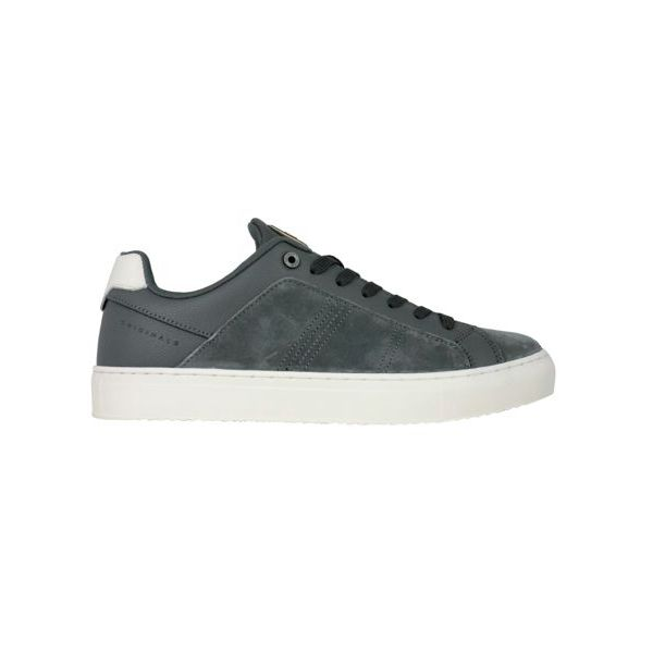 1. Colmar Bradbury Suede sneakers with hammered leather inserts Grey Colmar Shoes