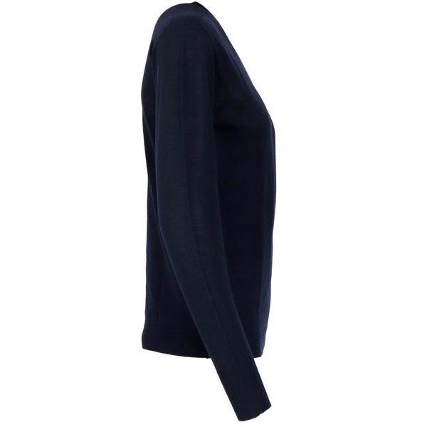 Crewneck sweater in virgin wool Navy PESERICO