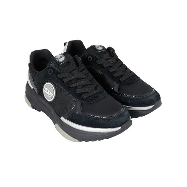4. Colmar Travis sneakers in leather with suede inserts Black Colmar Shoes