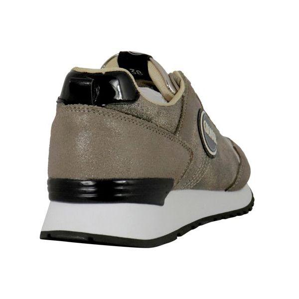 2. Colmar Travis Punk sneakers in lurex suede Gold Colmar Shoes