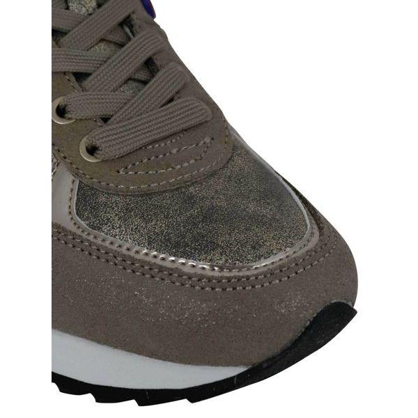 3. Colmar Travis Punk sneakers in lurex suede Gold Colmar Shoes