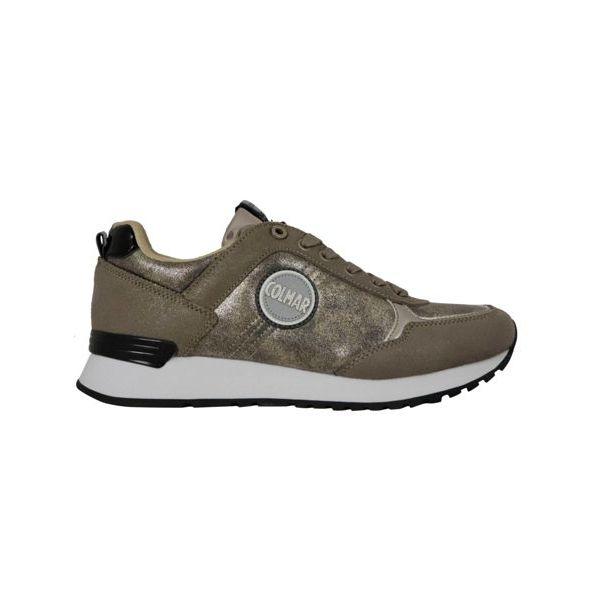 1. Colmar Travis Punk sneakers in lurex suede Gold Colmar Shoes