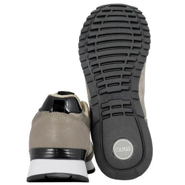 5. Colmar Travis Punk sneakers in lurex suede Gold Colmar Shoes