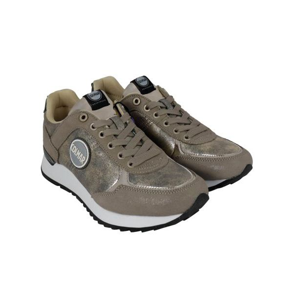 4. Colmar Travis Punk sneakers in lurex suede Gold Colmar Shoes