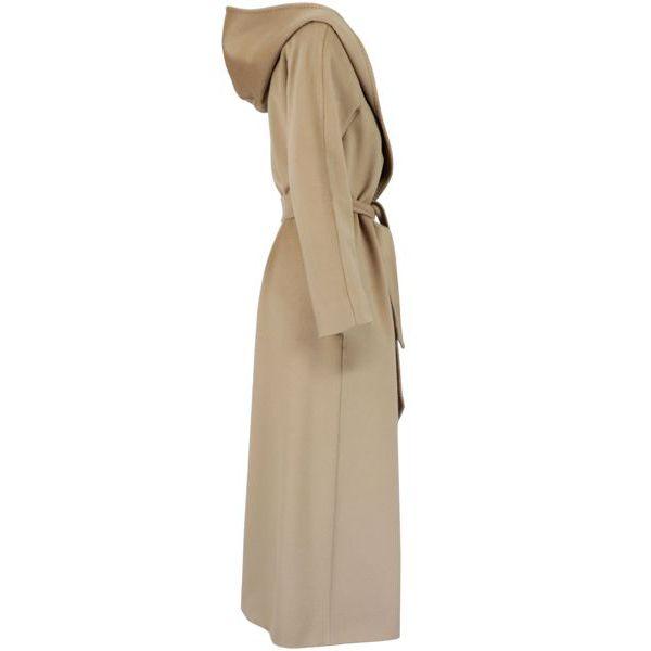 Danton hooded wool coat Camel MAX MARA STUDIO