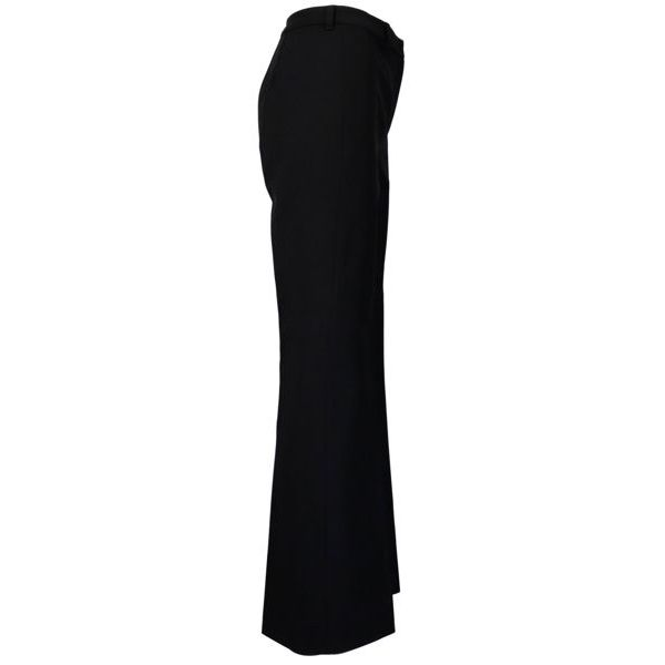 Navona trousers in micro-worked stretch cotton Black S MAX MARA