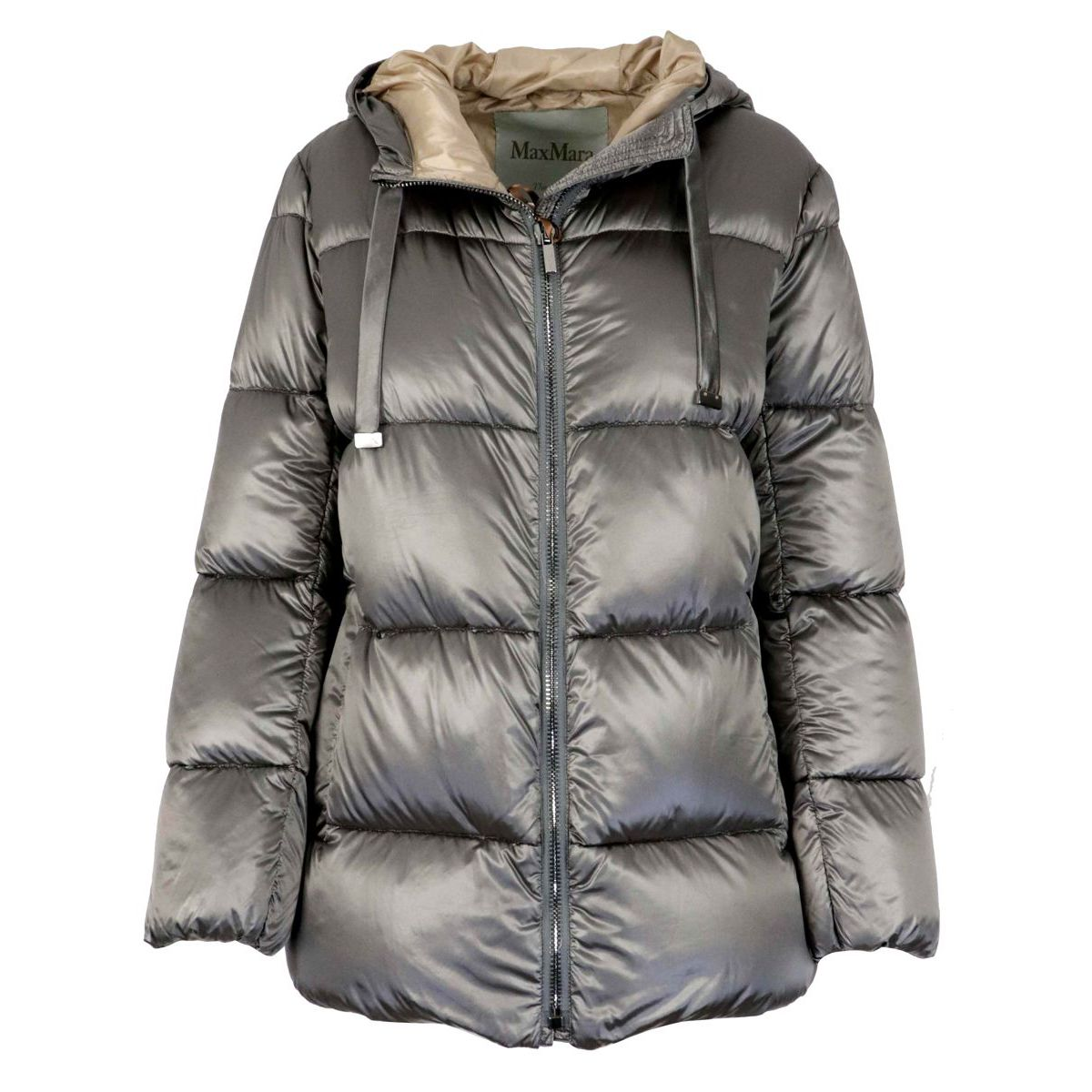 Spacey glossy effect down jacket Smoke gray MAX MARA THE CUBE