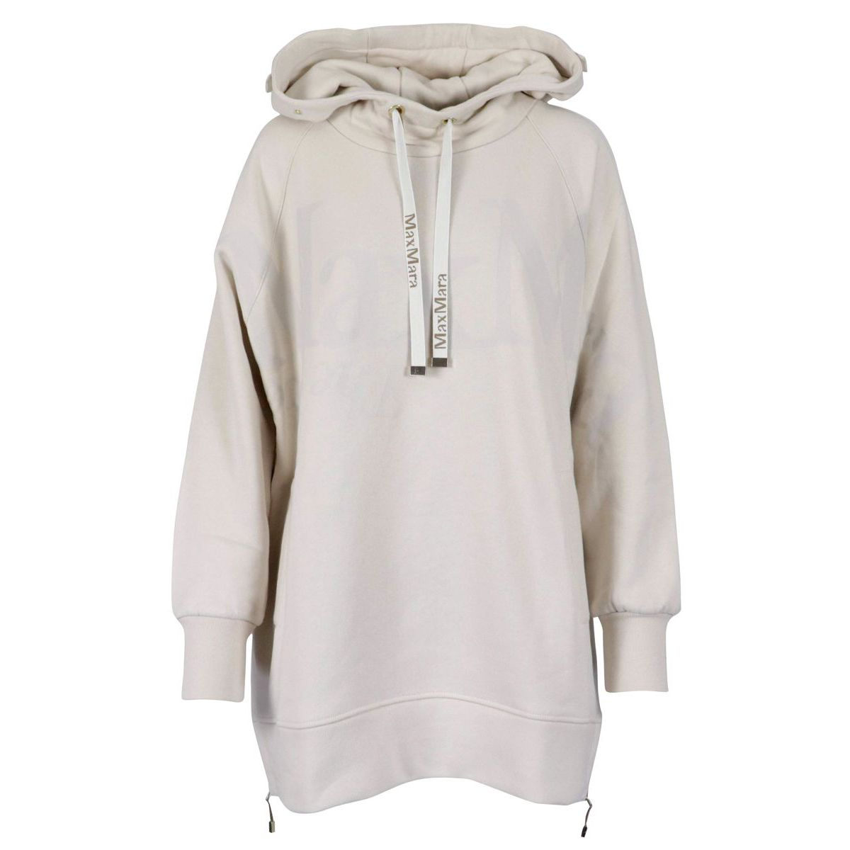 Maxi sweatshirt in Nupar cotton with side zips Putty S MAX MARA