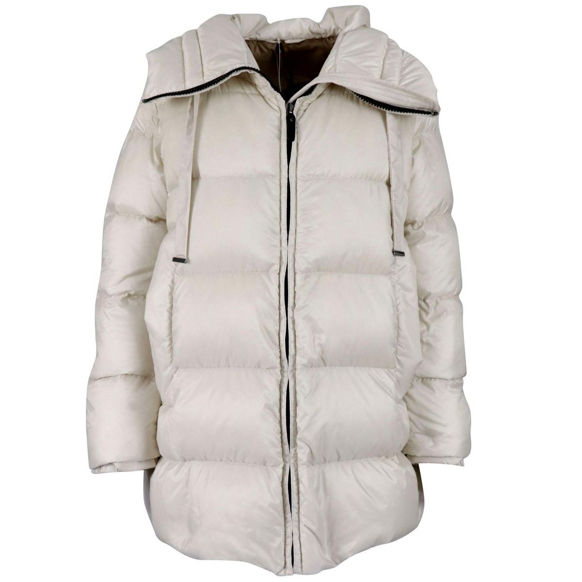 Seicar down jacket with hood Cream MAX MARA THE CUBE