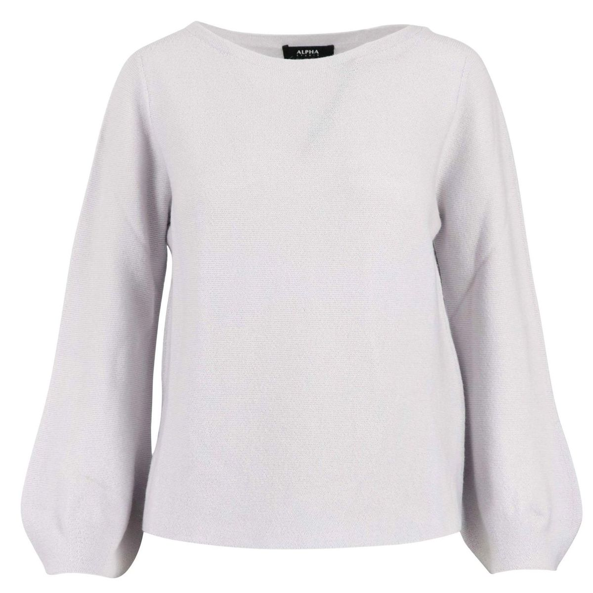 Crewneck sweater in wool with wide sleeves Putty Alpha Studio