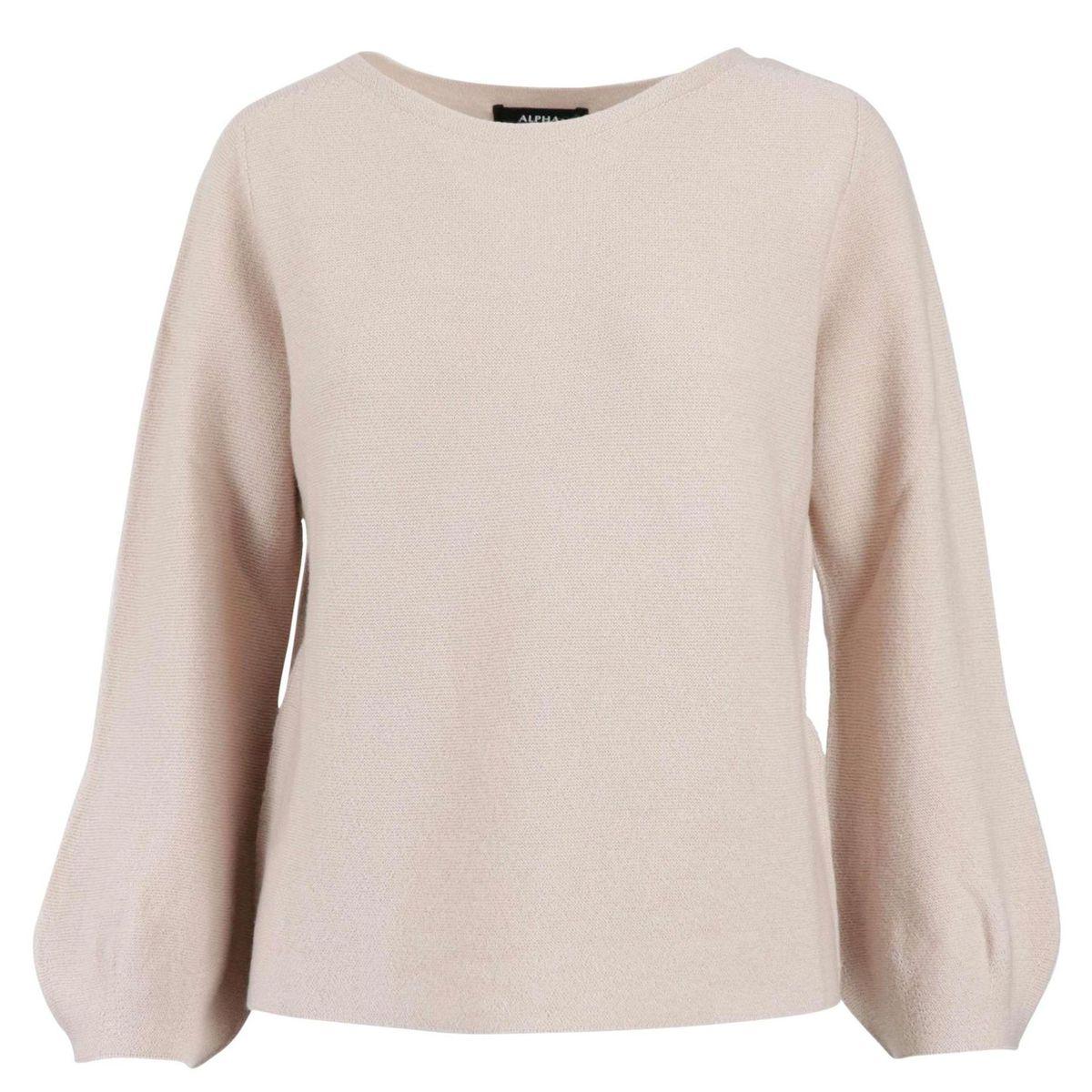 Crewneck sweater in wool with wide sleeves Quartz Alpha Studio