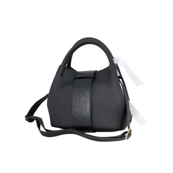 Zoe Baby bag in Pura leather Black Zanellato