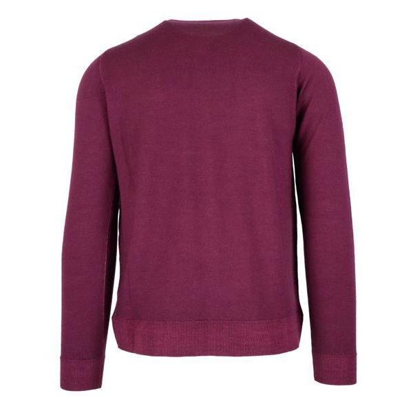 Sweatshirt in washed mohair wool Aubergine Alpha Studio