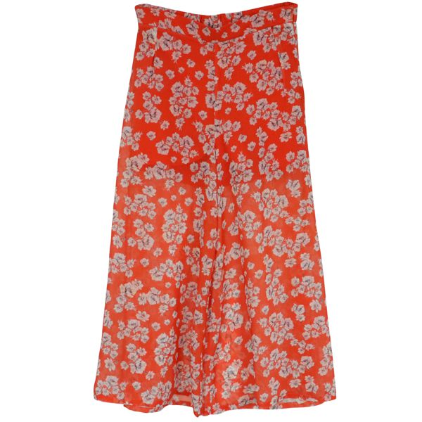 1. Patrizia Pepe cropped trousers in light patterned crepe Red Patrizia Pepe