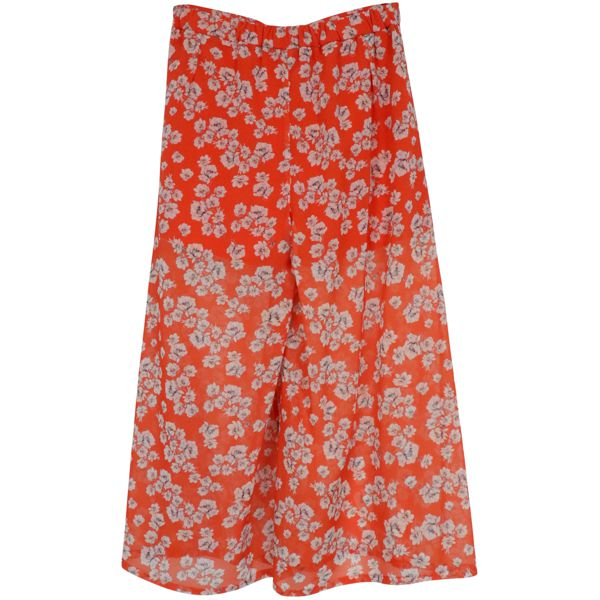 3. Patrizia Pepe cropped trousers in light patterned crepe Red Patrizia Pepe
