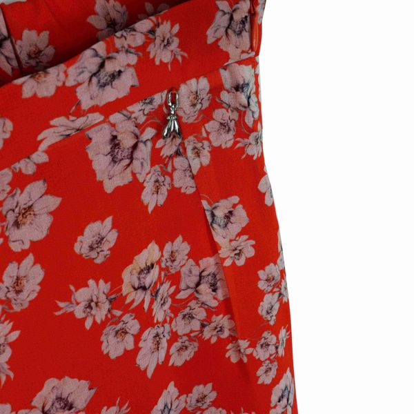 2. Patrizia Pepe cropped trousers in light patterned crepe Red Patrizia Pepe