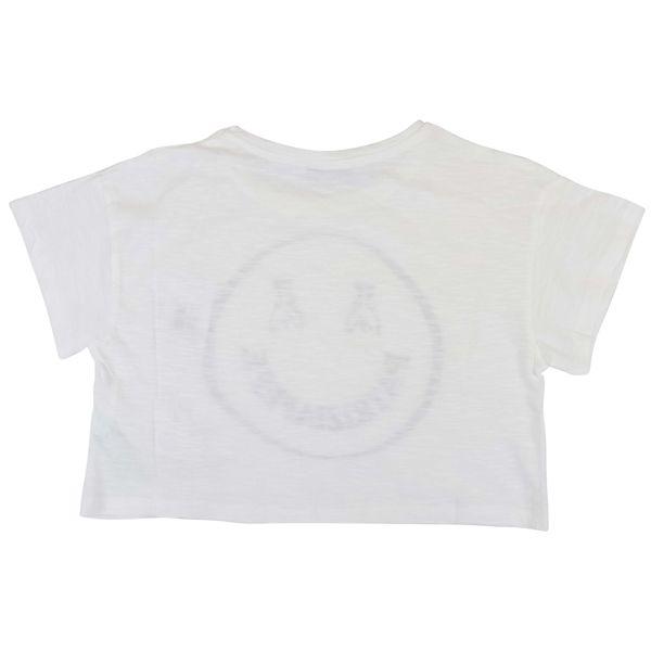 3. Patrizia Pepe cotton cropped T-shirt with smile print White Patrizia Pepe
