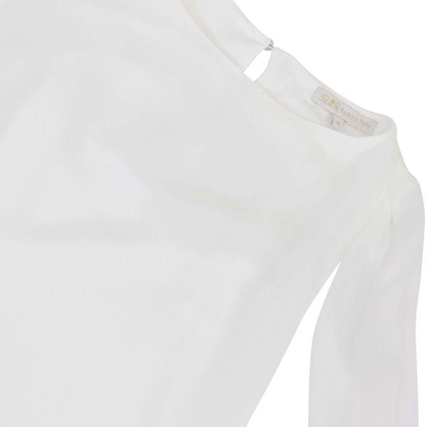 2. Patrizia Pepe blouse in viscose with contrasting details White Patrizia Pepe