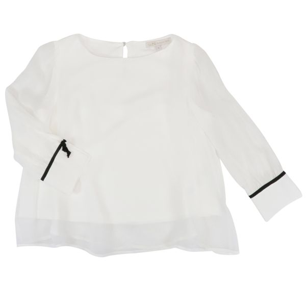 1. Patrizia Pepe blouse in viscose with contrasting details White Patrizia Pepe