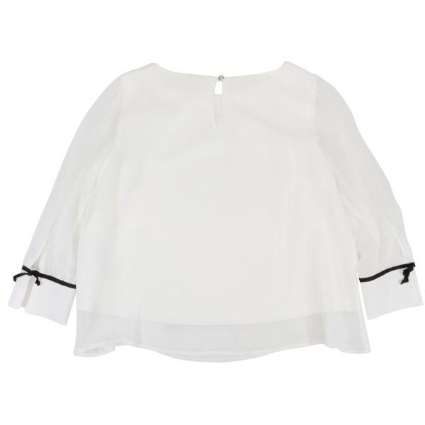 3. Patrizia Pepe blouse in viscose with contrasting details White Patrizia Pepe