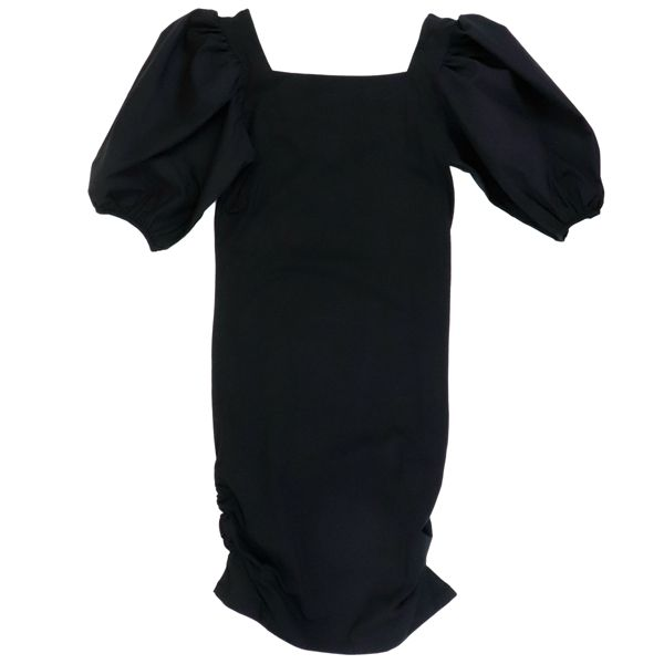 1. Patrizia Pepe jersey dress with wide sleeves Black Patrizia Pepe