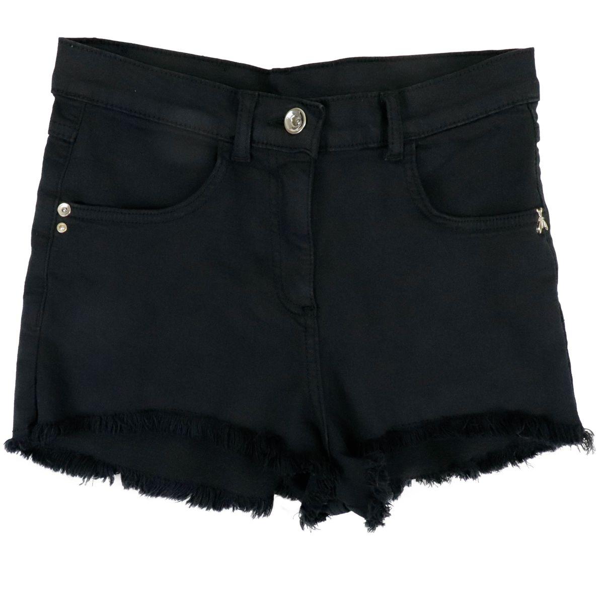 1. Patrizia Pepe shorts in denim effect cotton blend Black Patrizia Pepe