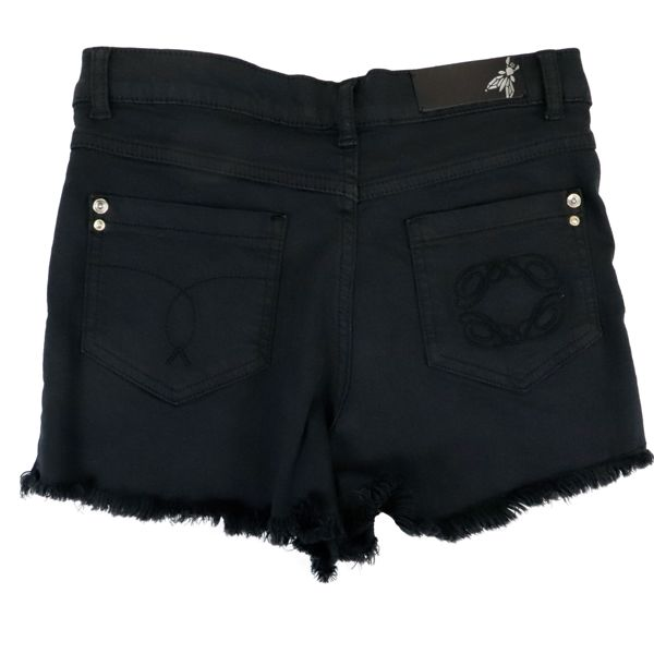 3. Patrizia Pepe shorts in denim effect cotton blend Black Patrizia Pepe