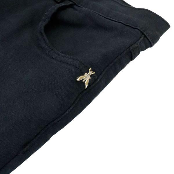 2. Patrizia Pepe shorts in denim effect cotton blend Black Patrizia Pepe