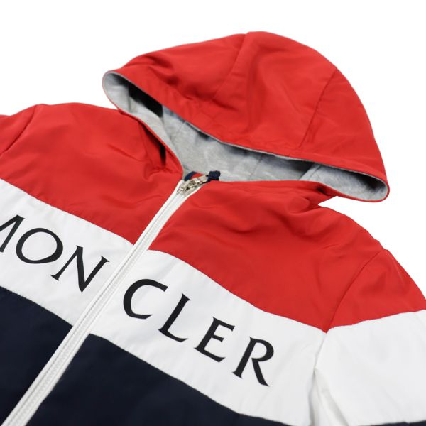 2. Veste Moncler Dard avec capuche Bleu / blanc / rouge Moncler