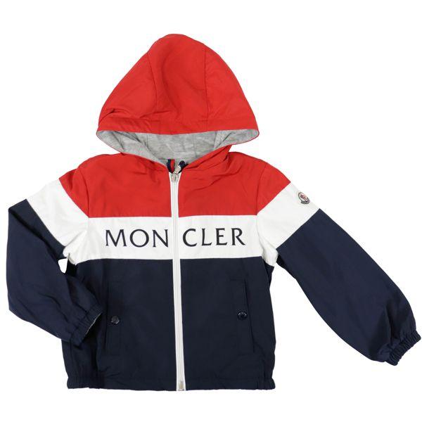 1. Veste Moncler Dard avec capuche Bleu / blanc / rouge Moncler