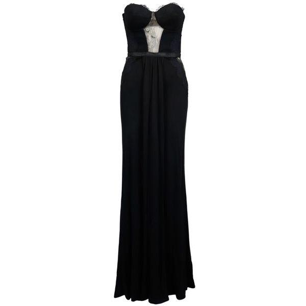 1. Elisabetta Franchi long dress in lurex jersey Black Elisabetta Franchi