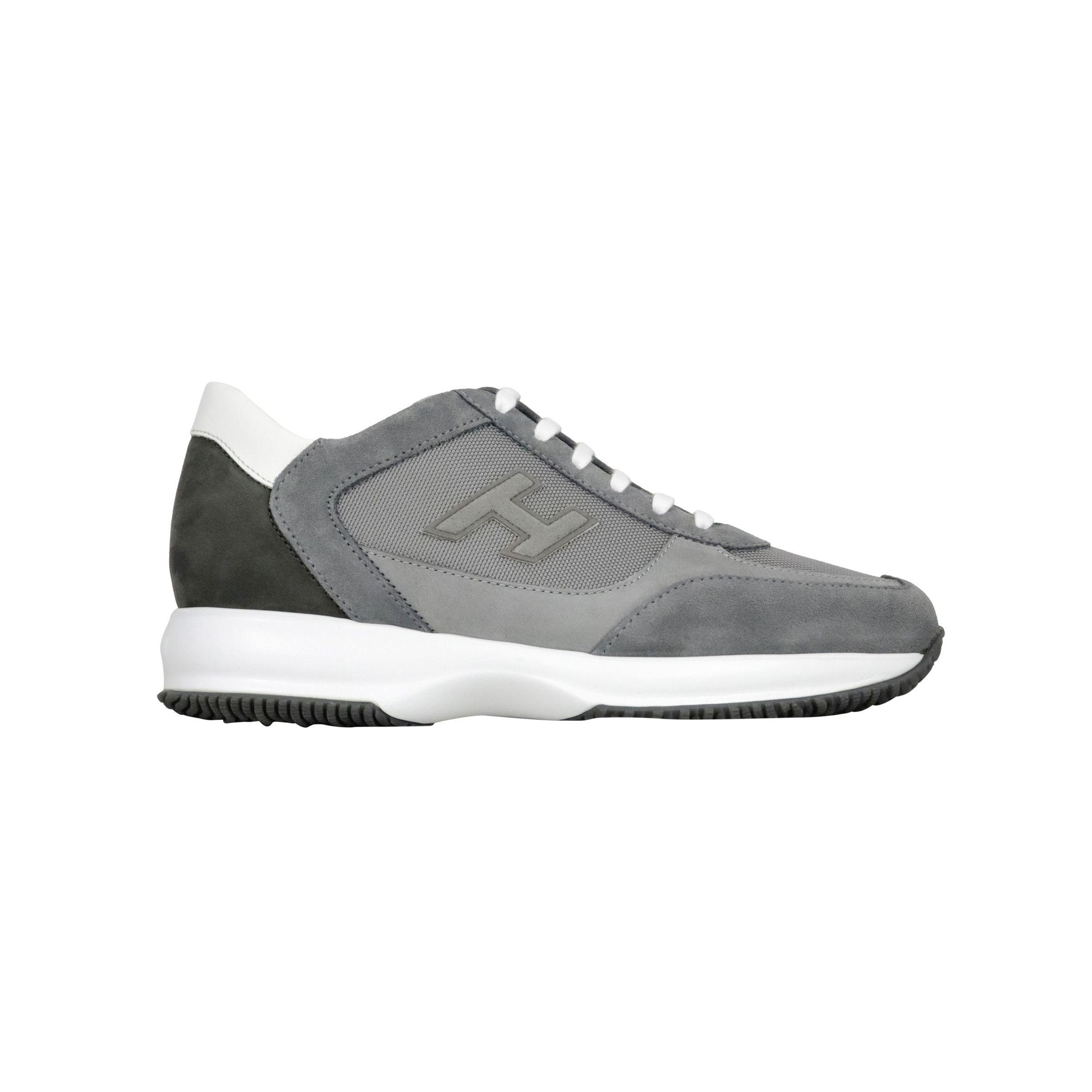 Sneakers Hogan Interactive bimateriale con H flock Grigio ...