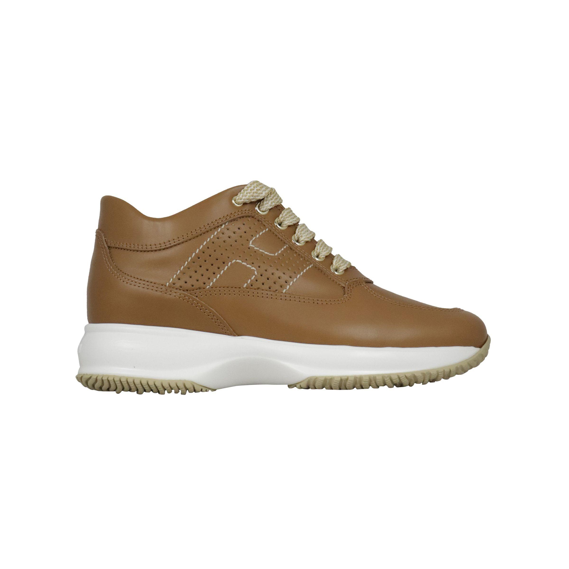 Sneakers Hogan Interactive in pelle Cuoio, hxw00n00e30d0w ...