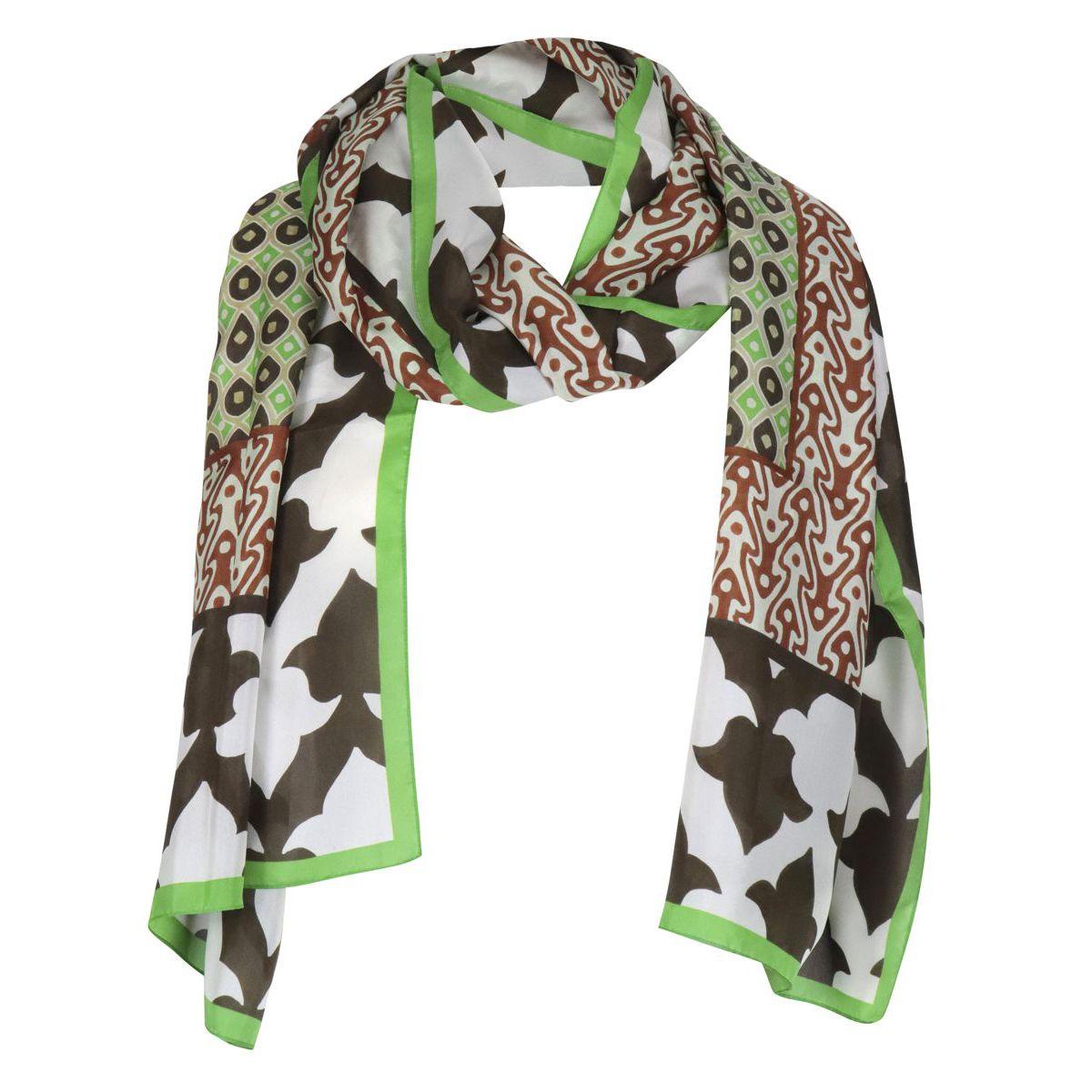 1. Maliparmi silk scarf with print White Maliparmi